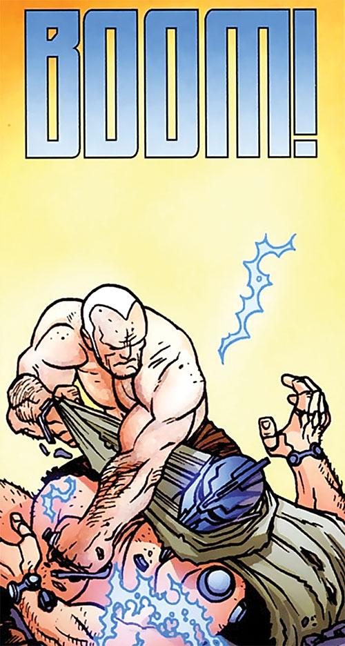 Brit (Image Comics Kirkman) vs. a giant knight