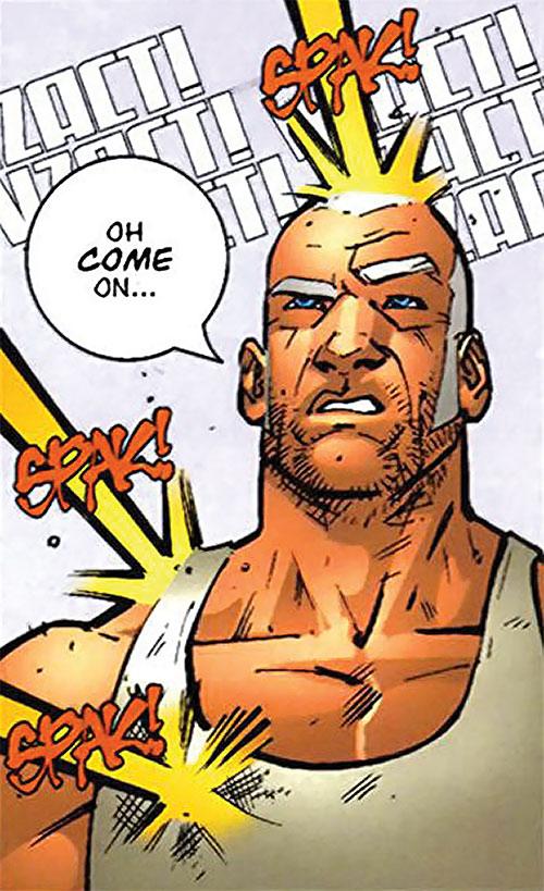 Brit (Image Comics Kirkman) bored and ignoring gunfire