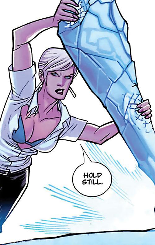 Britney (Brit / Invincible Image Comics Kirkman) ice stalactite blue bra