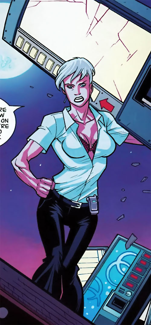 Britney (Brit / Invincible Image Comics Kirkman) white blouse and cleavage