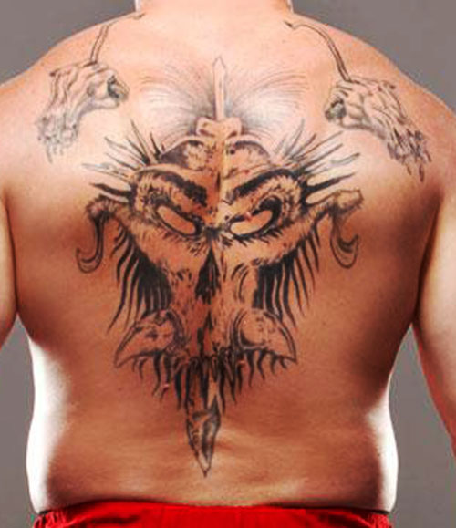 Brock Lesnar back tattoo