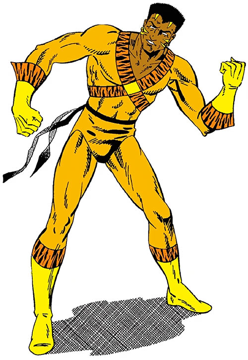 Bronze Tiger - DC Comics - Illustration from a Who's Who Update