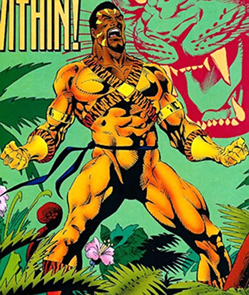 Bronze Tiger (Ben Turner) (DC Comics) raging