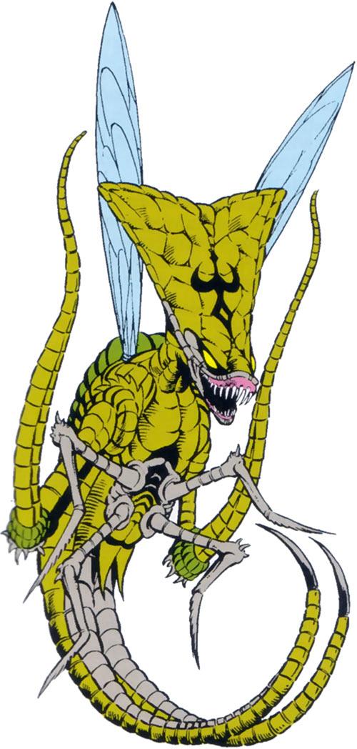 Brood aliens in the 1983 Official Marvel Comics Handbook