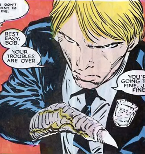 Brood Mutants (X-Men enemies) (Marvel Comics) Harry Palmer morphing his hand