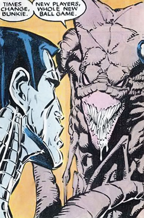 Brood Mutants (X-Men enemies) (Marvel Comics) Brickbat vs. Colossus
