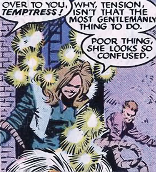 Brood Mutants (X-Men enemies) (Marvel Comics) Temptress using her pheromones