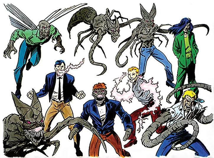 Group shot of the Brood mutants