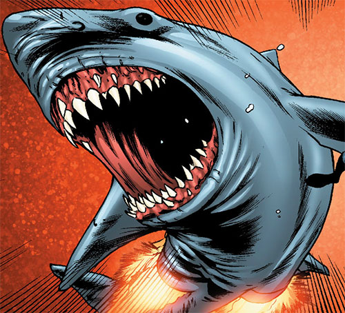 Brood aliens (X-Men enemies) (Marvel Comics) star shark