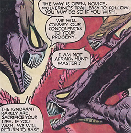Brood aliens (X-Men enemies) (Marvel Comics) discussing