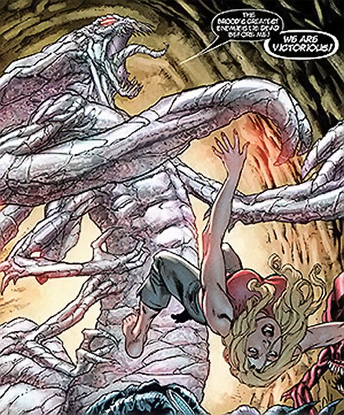 Brood aliens (X-Men enemies) (Marvel Comics) queen in mineral state