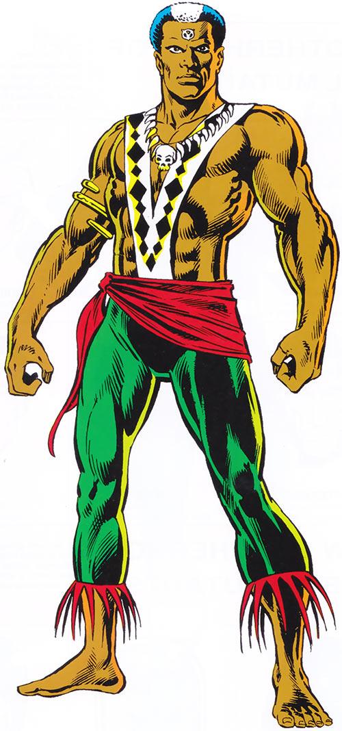 Brother Voodoo in the 1983 Official Marvel Comics Handbook