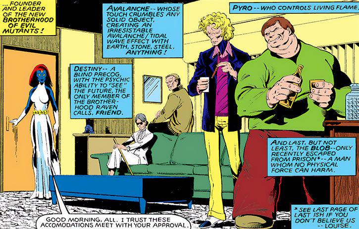 Brotherhood of Evil Mutants IV (Mystique version) (Marvel Comics) assembling