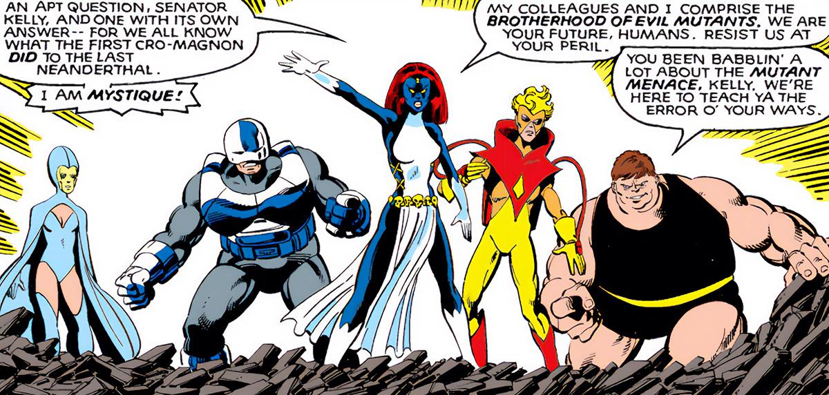 Brotherhood of Evil Mutants IV (Mystique version) (Marvel Comics) ready for battle
