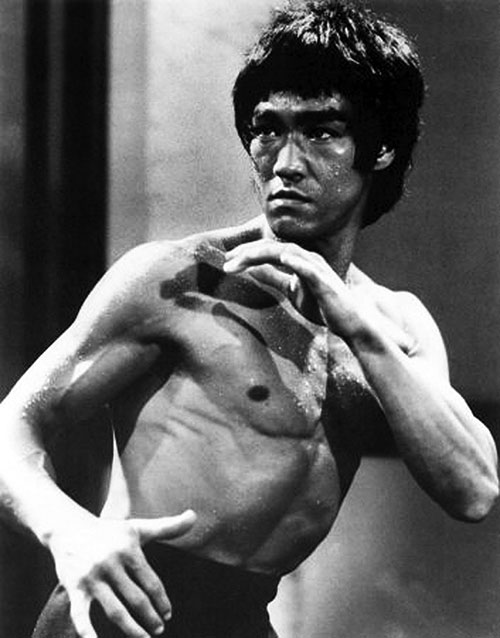 Bruce Lee B&W photo