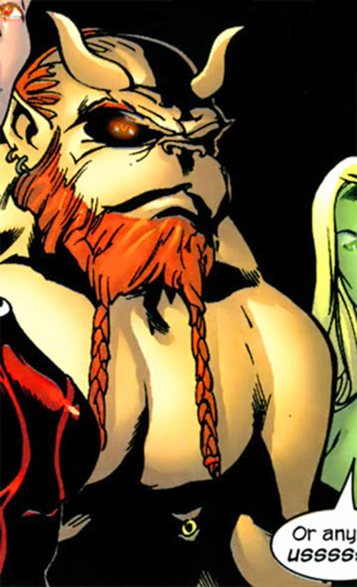 Brutacus (Marvel Comics) (Salem 7) closeup