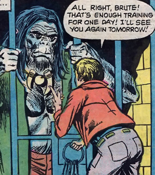 The Brute (Atlas / Seaboard comics) behind bars