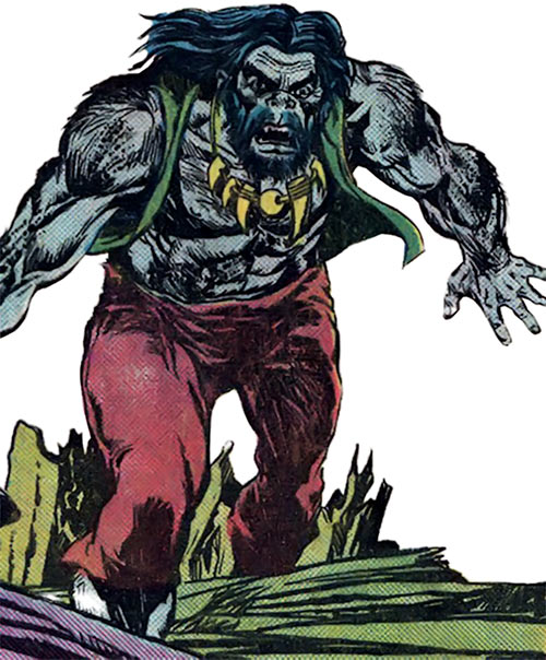 The Brute (Atlas / Seaboard comics) with his hippie look