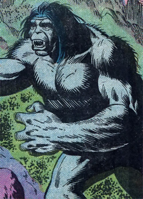 The Brute (Atlas / Seaboard comics) naked and blue