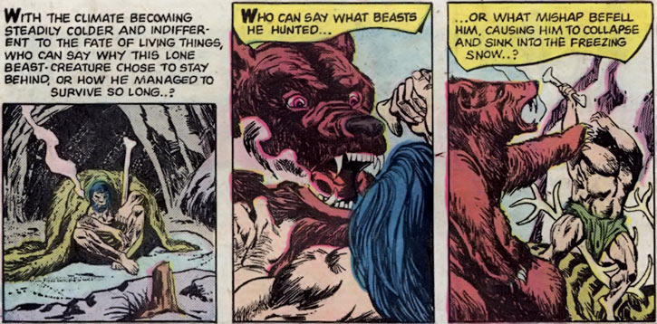 The Brute (Atlas / Seaboard comics) prehistoric flashback and bear