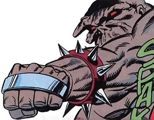 Brute of the Extremists (JLA enemy) (DC Comics) punching