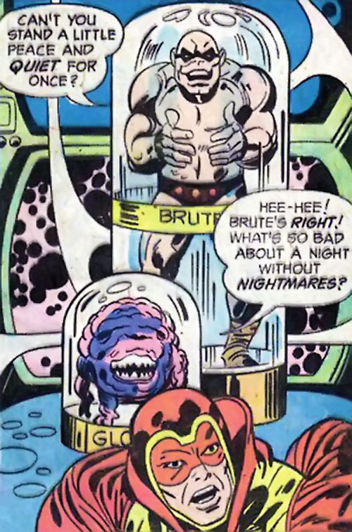 Brute and Glob (Sandman characters) (DC Comics) imprisoned behind the Sandman