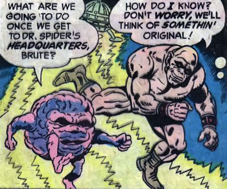 Brute and Glob as drawn by Kirby