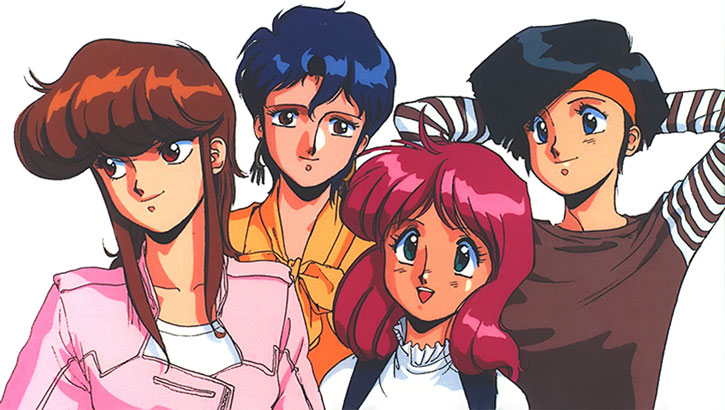 Group shot of Bubblegum Crisis' Knights Sabre