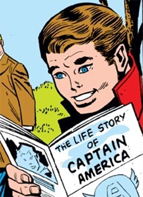 A young Jack Monroe (Marvel Comics) reading about Captain America