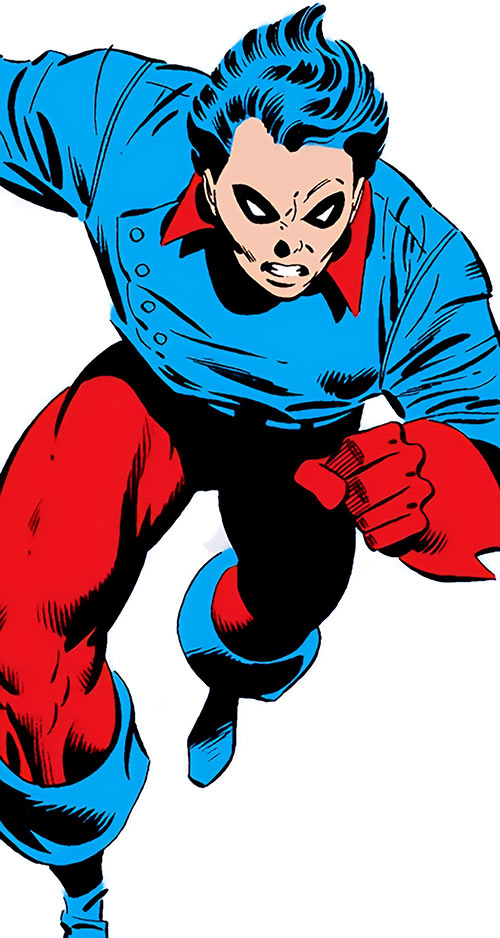 Bucky (Captain America character) (Marvel Comics) (Jack Monroe during the 1970s) charging