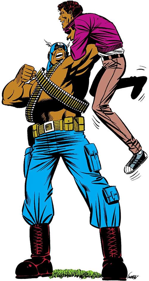 Bucky (Lemar Hoskins) (Captain America character) (Marvel Comics) as a Bold Urban Commando