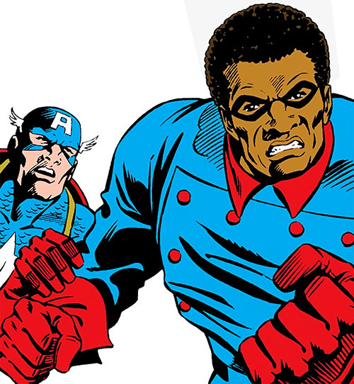 Bucky (Lemar Hoskins) (Captain America character) (Marvel Comics) and Cap (Walker)