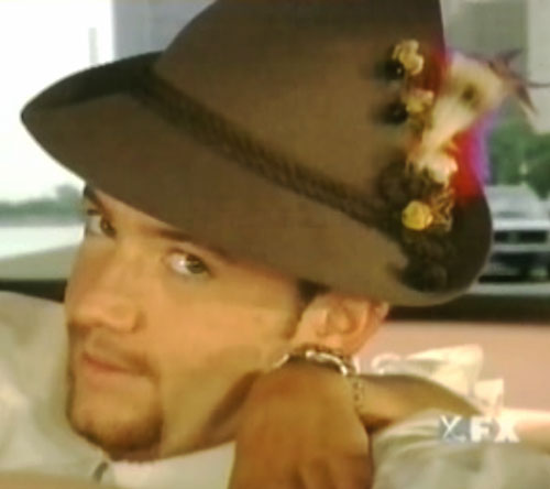 Bud Bundy (David Faustino in Married with Children) with a Tyrolean hat