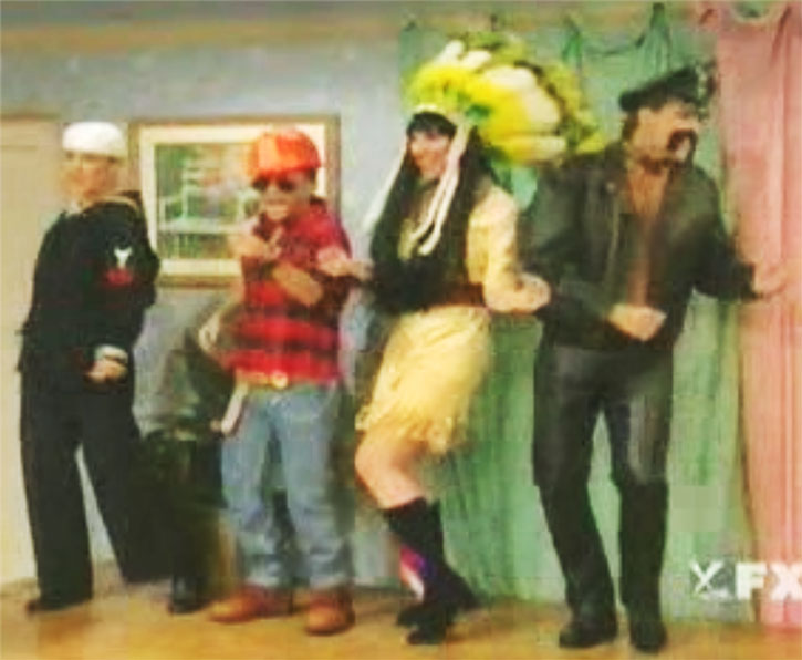 Bud Bundy and others as the Village People