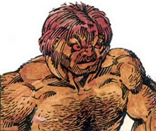 Bull (Villains & Vigilantes RPG) color closeup