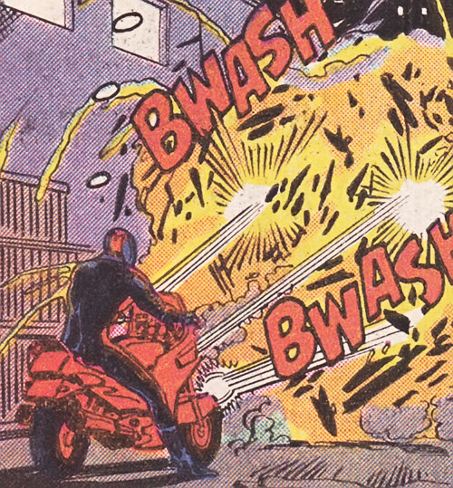 Bullet Biker (Marvel Comics) firing his bike's guns