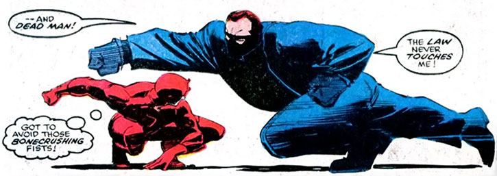 Bullet punches a dodging Daredevil