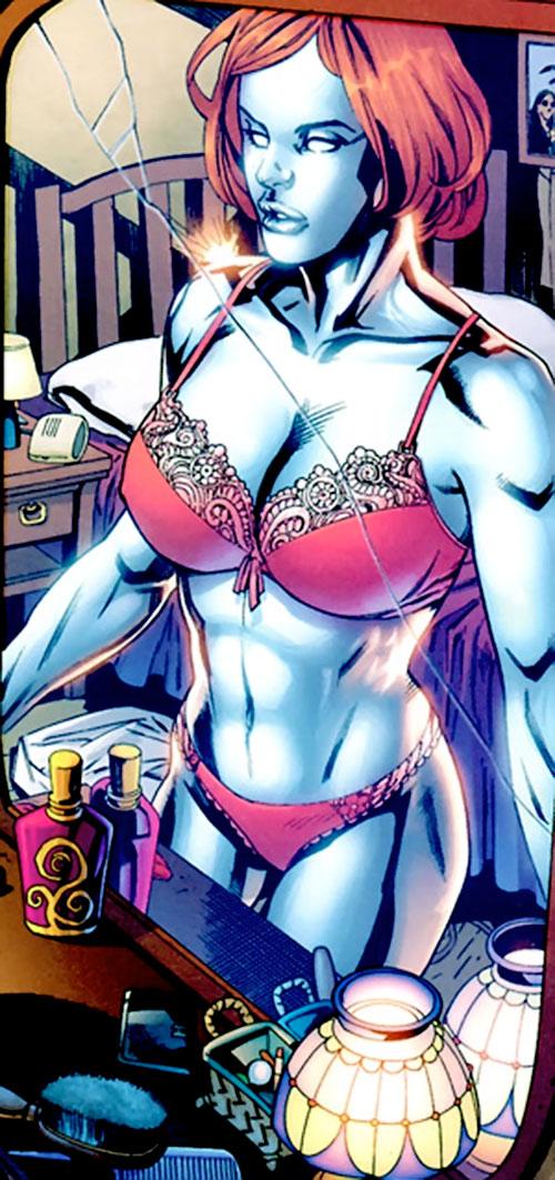 Bulleteer (7 Soldiers) (DC Comics) in her underwear