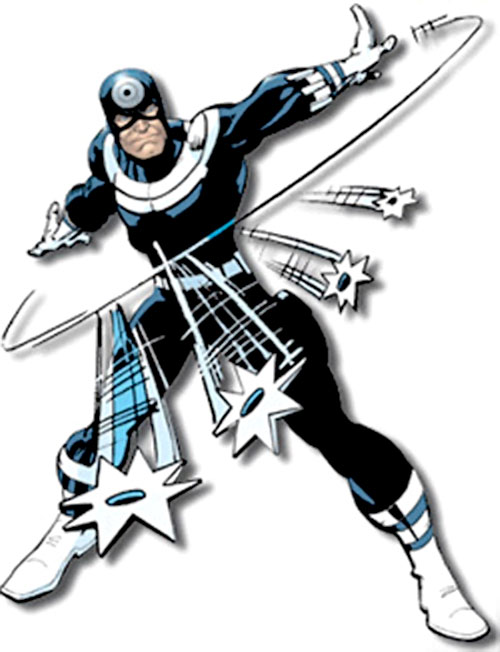 Bullseye (Marvel Comics) (Daredevil enemy) throwing shuriken