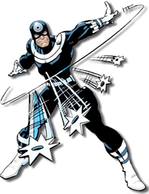 Bullseye (Marvel Comics) (Daredevil enemy) throwing shuriken