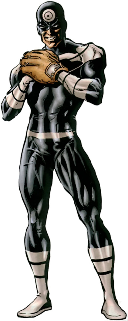 Bullseye (Marvel Comics) (Daredevil enemy) playing baseball