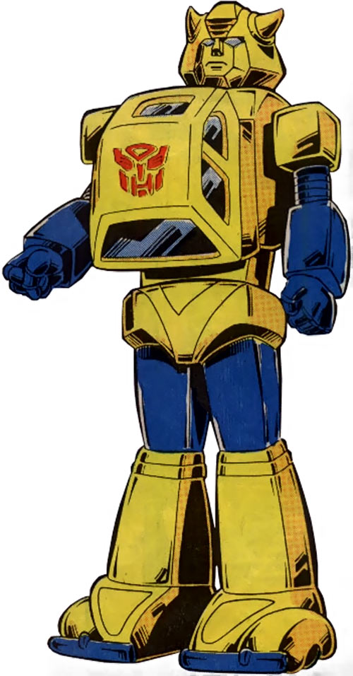 Bumblebee of the Transformers (1980s Marvel Comics) sourcebook