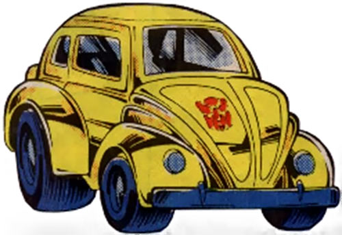 Bumblebee of the Transformers (1980s Marvel Comics) beetle car form