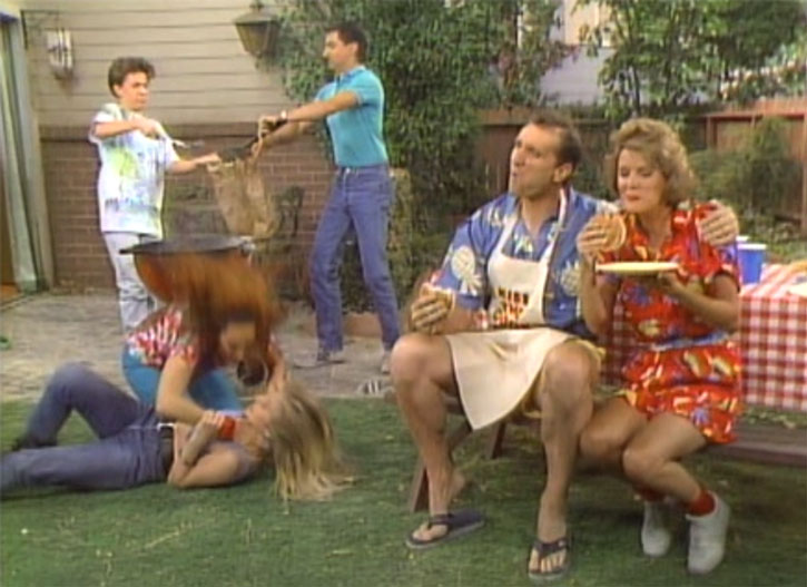 The Bundy family having a BBQ