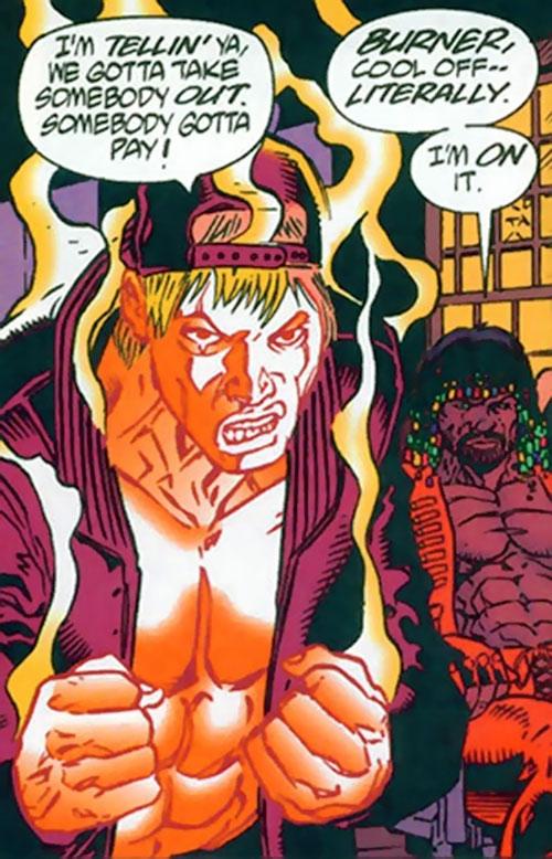 Burner (Dark Horse Comics) starting to combust