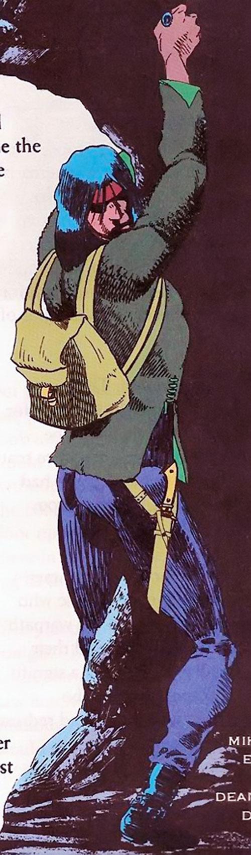 John Butcher (DC Comics) climbing a cliff