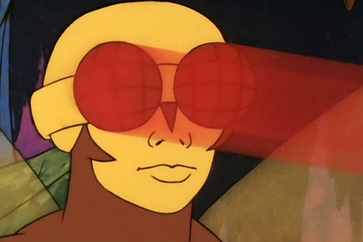 Buzz-Off (Masters of the Universe) 1980s cartoon, eye beams goggles