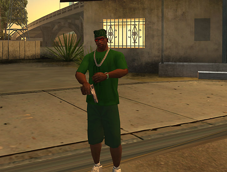 CJ representing in San Andreas