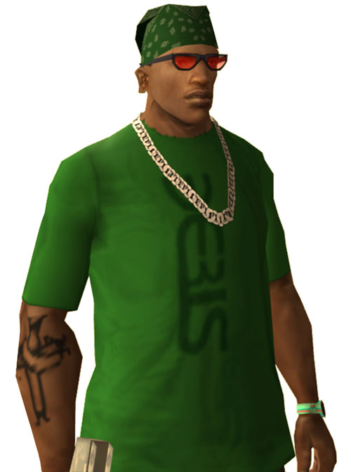 CJ (Grand Theft Auto San Andreas) white background