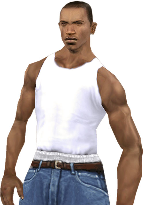 CJ at the beginning of GTA San Andreas